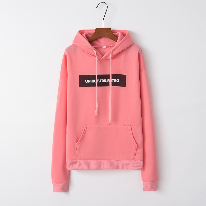 Letter Black Box 2020 New Design Hot Sale Hoodies Sweatshirts Women Casual Kawaii Harajuku Sweat Girls European Tops Korean