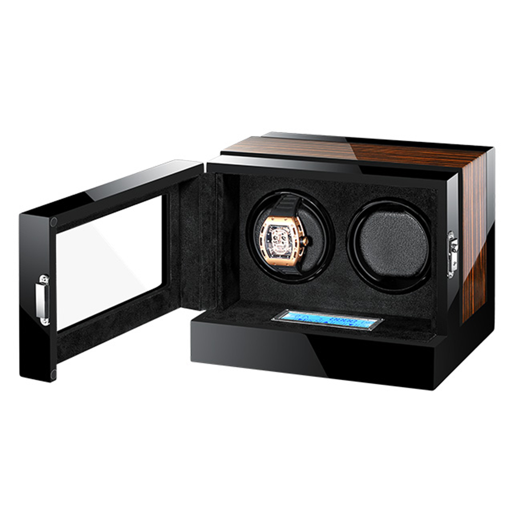 Automatic Mechanical Watch Winder Watch Box wooden black High Class Motor Shaker Watch Holder Display Jewelry Box New 2019