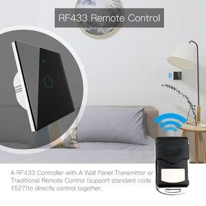 Image 2 - Wifi + rf433mhz vida inteligente interruptor de luz inteligente tuya trabalho controle remoto sem fio com alexa eco google casa preto 1/2/3 gang