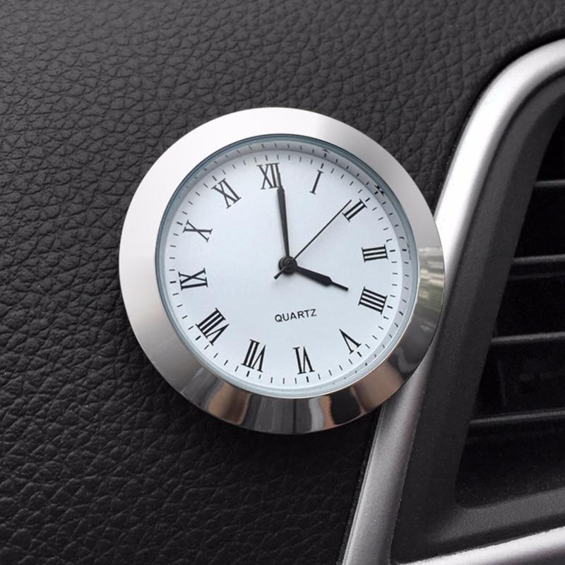 Quartz Car Clock Ornament Automotive Watch Decoration Automobiles Interior Stick-On Time Display Clock In Car Accessories Gifts