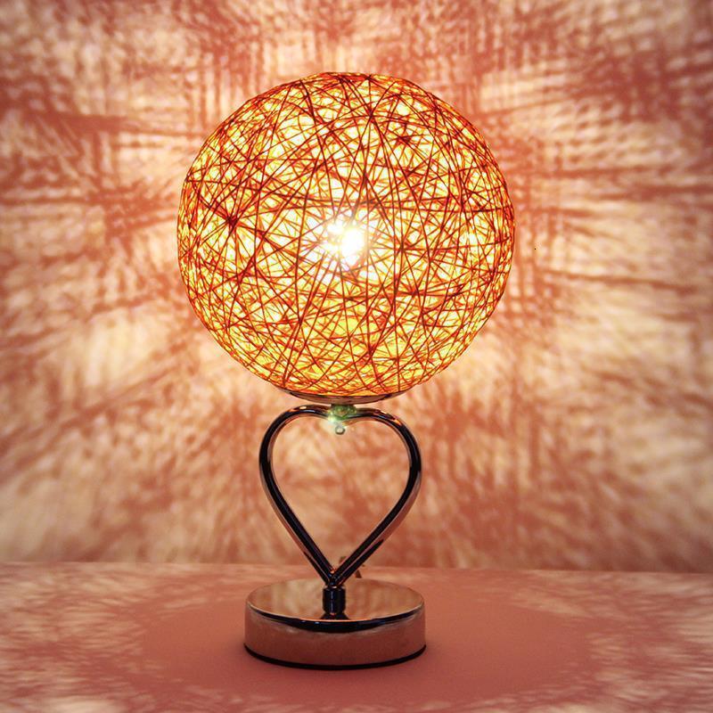 Chambre Tafellamp ベッド Schemerlamp クリスタルノーチェ Decoracao カサノエル Abajur パラ四デコメゾンランパラデ · メサテーブルランプ  グループ上の ライト & 照明 からの テーブルランプ の中 2