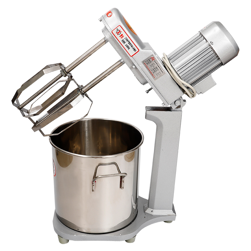 Large Motor Double Shaft High Efficiency Eggbeater Commercial Cream Machine Milkshake Mixer Waterless Cake Eggbeater