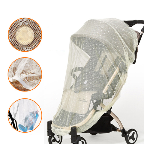 Infants Baby Stroller Mosquito Net Safe Mesh Buggy Crib Netting Cart Mosquito Net Pushchair Accessories Full Cover Netting Lahore