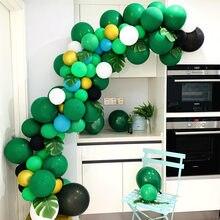 Ballons d'anniversaire en forme de dinosaure, vert, décorations de fête, pour enfants, à hélium, pour pâques