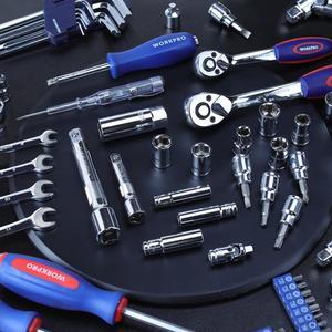 Image 5 - WORKPRO 123PC nouveau ensemble doutils de mécanicien pour voiture maison Kits doutils à dégagement rapide cliquet poignée clé jeu de douilles