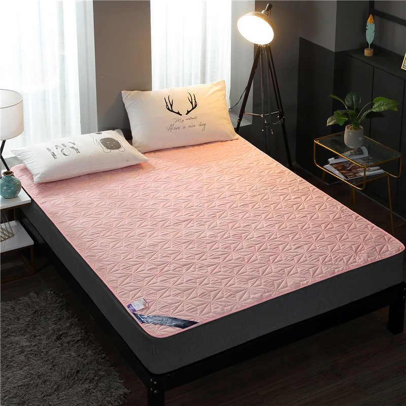 Stoff Quilt Wasserdichte Matratze Pad Abdeckung Protector Folding Bett Blatt Für Königin König Twin Kid Baby Anti Milben Tatami Matratze