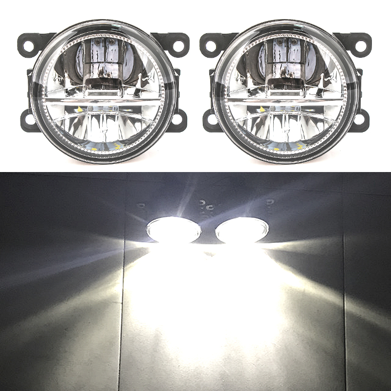 for <font><b>Ford</b></font> <font><b>Focus</b></font> MK3 led light headlight <font><b>MK2</b></font> Fusion Transit Fiesta Tourneo 2001-2015 fog Lights fog lamps DRL fog light foglights image