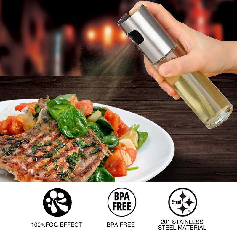 Internaul BBQ Baking Olive Oil Spray Bottle Vinegar Spray Bottles Water Pump Glass Gravy Boats Grill Sprayer Kitchen Tools Salad