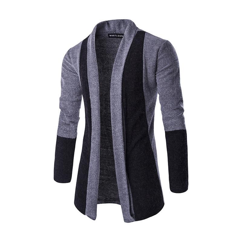 Brand New 2019 Autumn Winter Patchwork Cardigan Men
