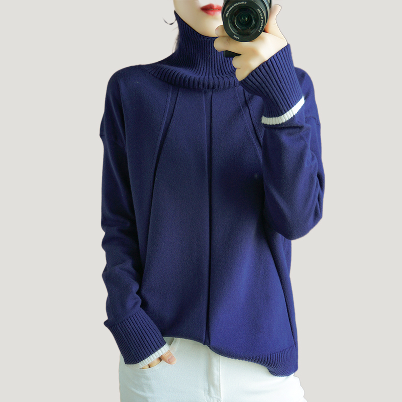Thick Turtleneck Sweater Women Winter Long Sleeves Pullover Knitted Jumper Warm Fashion Stylish Top Female Sweaters Plus Size