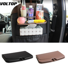 Car Seat Back Organizer Foldable Table Tray Travel Storage Bag Dining
