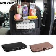 Car Seat Back Organizer Foldable Table Tray Travel Storage Bag Dining