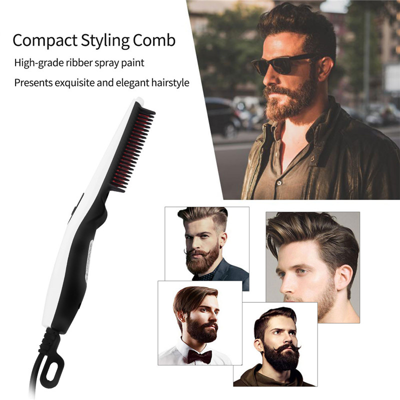 Electric Beard And Hair Straightener Brush Quick Heater Ionic Styling Tools Portable Travel Home Straightening Curling Comb 45