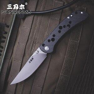 Image 1 - Sanrenmu srm 9165 bolso faca dobrável 12c27 ferramenta de sobrevivência resgate aço ao ar livre acampamento edc mini tático huinting faca