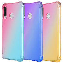 Gradient Soft TPU phone case for Huawei Nova 20 9x pro 2 3 4 5 3i 4e 8E p30 lite P smart plus Honor V20 8X 8C 9i 9N P smart Y9 prime 2019 Y5 PRIME 2018 P Smart Z 7C Transparent cover(China)