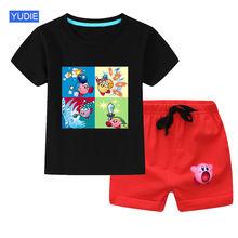 Комплект одежды для мальчиков и девочек Милый Летний повседневный