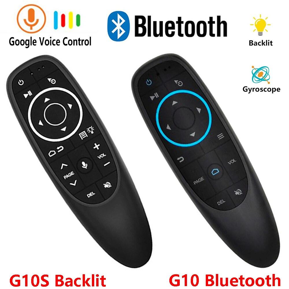 G10 G10S PRO backlit Rato Ar voz Bluetooth sem fio 2.4G controle remoto six-axis gyroscope air esquilo voador
