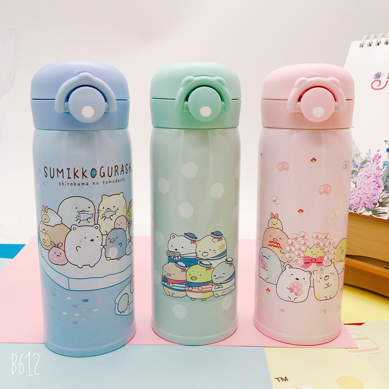 320ml Sumikko Gurashi Corner Bio Action Figure Stainless Steel Portable Thermos Cup Cute Cartoon Winter Keep Warm Water Bottles