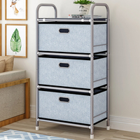 Kitchen Living Room Storage Rack Home Organizer Bedroom Hallway Entryway Closet 3 Removable Drawers Storage Drawers