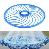 48cm Outdoor Cast Net Fishing Net Tools American Style Aluminum Ring Catch Fishing Nets Hand Rope Ring Fishing Accessories