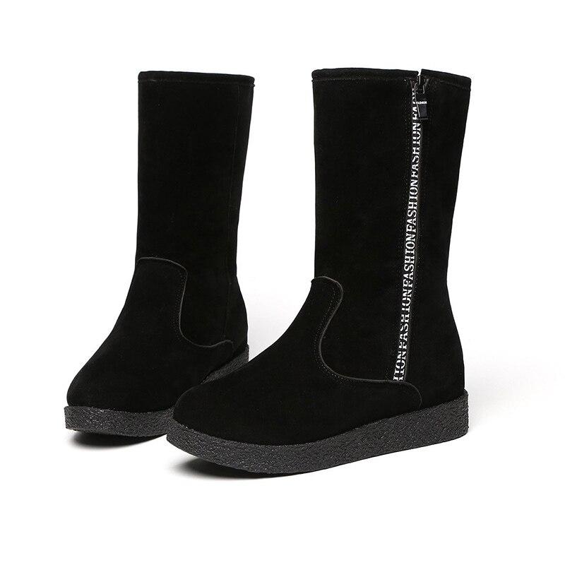 Women Snow Boots 2020 Winter Platform Plush Shoes Fashion Black Short Boots Women Warm fur Ankle Boots