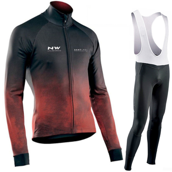 Kit de ciclismo para hombre 2020, jersey de ciclismo de manga larga...