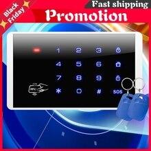 K16 Rfid Touch Wireless Password Burglar Access Control System Arm Disarm Keypad For Pstn Gsm Wifi Alarm Systems