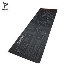 Резиновый коврик для мыши с рисунком деталей и инструкциями