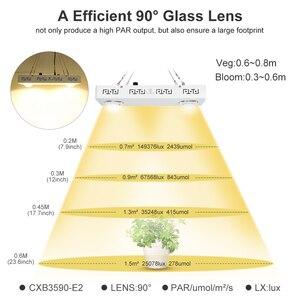 Image 4 - Dimmbare COB LED Wachsen Licht Gesamte Spektrum CREE CXB3590 100W 200W 400W 600W Wachsen Lampe für indoor Anlage Wachstum Panel Beleuchtung