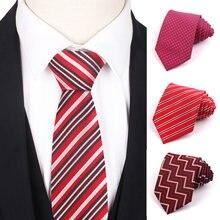 Красный цвет классический шейный галстук для мужчин и женщин