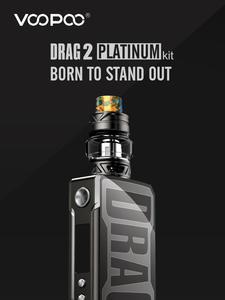 177W VOOPOO DRAG 2 Platinum Mod Vape Kit 5ml Uforce T2 Tank Vape Mods Electronic Cigarette
