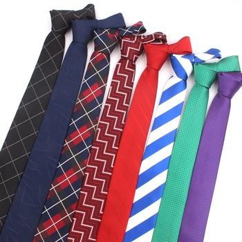 Skinny Ties For Men Women Casual Plaid Necktie For Wedding Business Boys Suits Jacquard Striped Tie Slim Men Necktie Gravatas