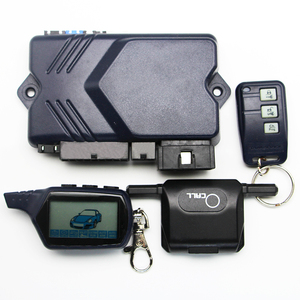 Image 3 - Only For Russian Twage B9 2 Way Car Alarm System+ Engine Start LCD Remote Control Key keychain B 9