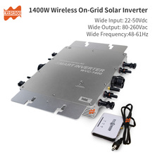 Waterproof IP65 1400W MPPT Grid Tie Micro Solar Inverter, 22-50VDC to 80-260VAC, 45Hz ~ 64Hz, Monitor by Mobile waterproof ip67 300w grid tie micro inverter with communication function 22 45vdc to 190 260vac for 350w 36v solar panels