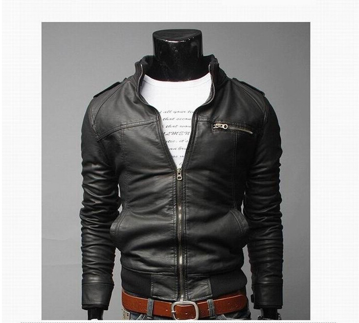 Autumn And Winter Korean-style Men'S Wear Locomotive Leather Coat Jacket Men's Leather Jacket Men's Leather