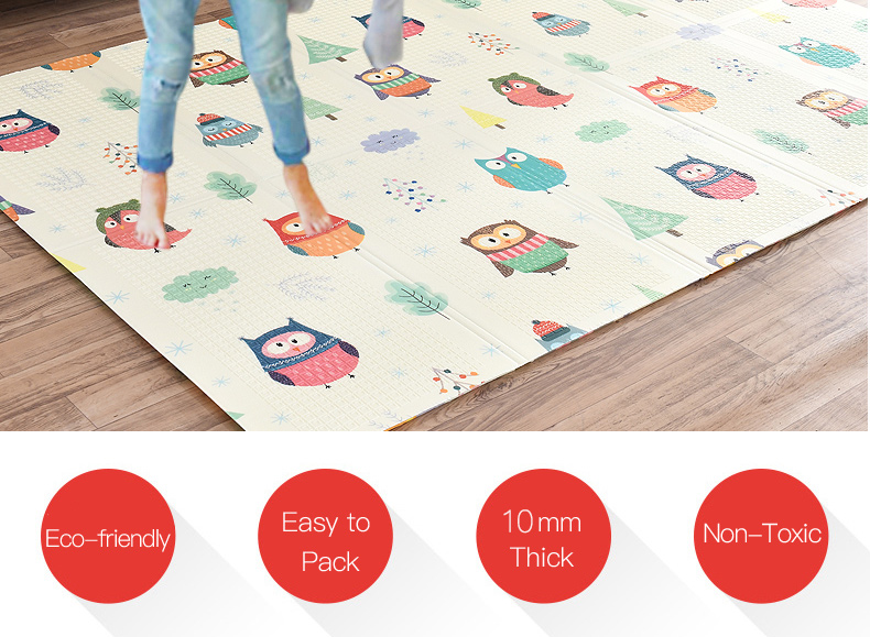 H75356ce0ded9478e81ef38deac2cdf41K Miamumi Portable Baby Play Mat XPE Foam Double Sided Playmat Home Game Puzzle Blanket Folding Mat for Infants Kids' Carpet Rug