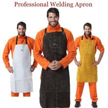 Professional Welding Apron Leather Cowhide Welder Protect Cloths Carpenter Blacksmith Garden Clothing Brown Color Working Apron