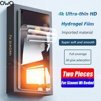 Pellicola salvaschermo 2 pezzi Full Cover per Xiaomi Mi 11 Ultra 8 9 Lite Mi Note 10 pellicola idrogel per Poco F3 F2 Pro F1 X3 M3 non vetro