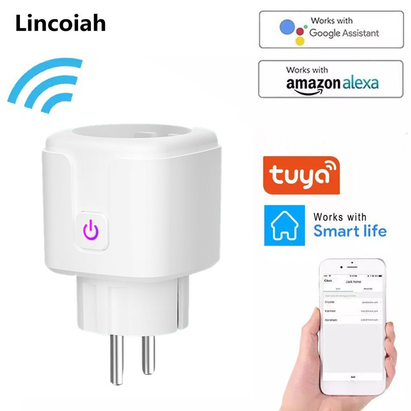 Timer-Socket Outlet Uk-Adaptor Power-Energy-Monitor Voice-Control Alexa Wifi Remote Smart