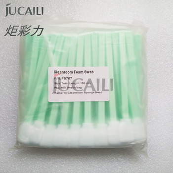 Jucaili printer Cleaning swab for xp600/dx4/dx5/dx7/5113/4720 head Allwin Mimaki Mutoh printer eco solvent ink brush 13cm 10pcs large format printer ciss ink system manual valve 3 ways for flora mimaki roland eco solvent printer valves white