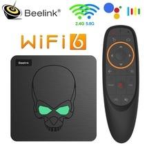 Beelink GT rey WiFi6 Dispositivo de TV inteligente Android 9 Amlogic S922X Quad-core 4GB 64GB TVBOX BT4.1 1000M LAN Android 9,0 4k Set top BOX