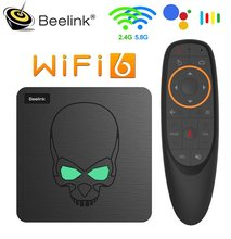 Beelink – boîtier Smart TV GT King, Android 9, Amlogic S922X Quad core, 4 go/64 go, bt 1000, 9.0 M LAN, décodeur 4k