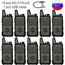 10 Chiếc WLN KD C1plus Mini Radio UHF 400 470MHz Slim Thu Phát KDC1plus Bộ Đàm KD C1 Nâng Cấp