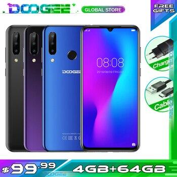 "Doogee N20 Smartphone 6.3"" FHD+ Waterdrop Screen 16MP Triple Rear Cameras 4350mAh 4GB+64GB Octa core Fingerprint 4G Smartphone 1"