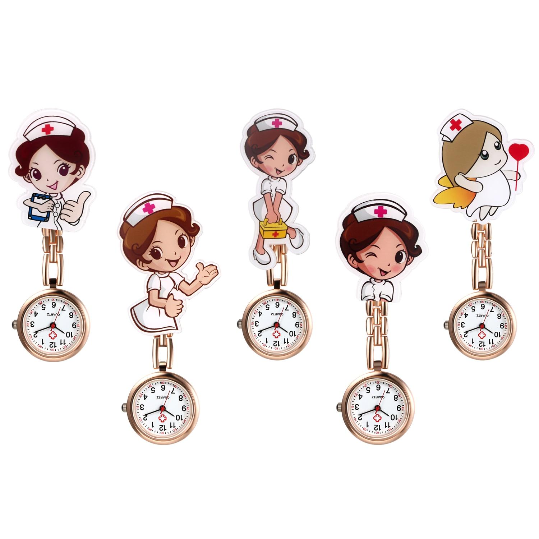 LANCARDO Lovely Cartoon Women Men Ladies Nurse Watches FOB Nurse Doctor Watch Hanging Female Lady's Hospital Watches