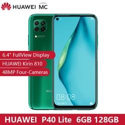 Originale HUAWEI P40 Lite 6GB 128GB 6.4 FullView Display 2310 × 1080 Kirin810 Octa-core EMUI 10.0 48MP Quattro Macchina Fotografica carica Veloce NFC