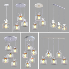 Nordic creative personality glass resin bird pendant lamps living room dining room bar bedroom lights