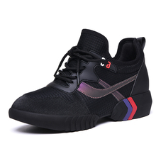 Hot Sale Vulcanize Sneakers Fashion Women Breathable Lace-Up Wedges Sneakers Platform Shoes Mesh Woman Casual Shoes B0042 air mesh breathable shoes lace up shoes woman solid cotton fabric women sneakers sewing wedges shoes for women 2018 new