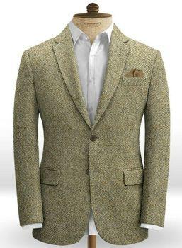 Green Men Suits Slim Fit Wedding Dresses for Man Jacket Blazer Lapel Business