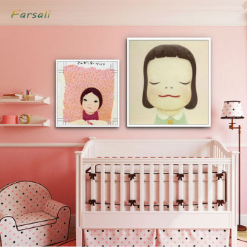 Sleepwalking Dolls Cartoon Canvas Art Painting Print Poster Picture Wall Desk Baby Girl Room Home Decor/decoration home image